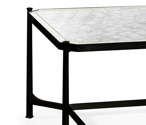 Jonathan Charles - Bronze Iron Rectangular Coffee Table - 494144-B