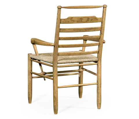 Jonathan Charles - Natural Oak Ladder Back Country Arm Chair - 494219-L