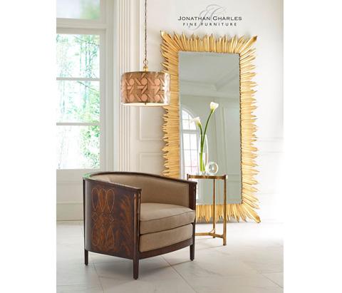Jonathan Charles - Gilded Floor Standing Rectangular Mirror - 495004-GIL