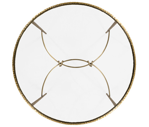 Jonathan Charles - Hammered Circular Centre Table - 495028-BRA
