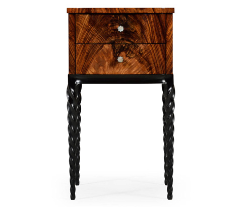 Jonathan Charles - Lamp Table with Black Twisted Legs - 495291-BLA