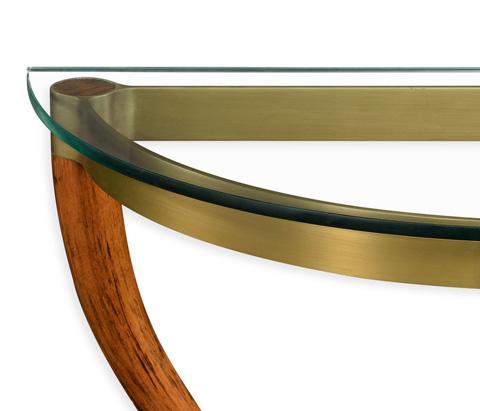 Jonathan Charles - Hyedua Wood Demilune Wall Bracket Console - 495315