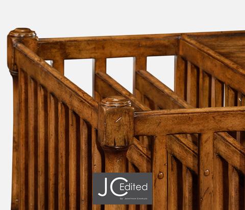 Jonathan Charles - Country Walnut Rectangular Coffee Table - 491012-CFW