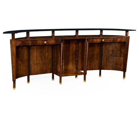 Jonathan Charles - Mahogany Semi Circular Registration Desk - 495068