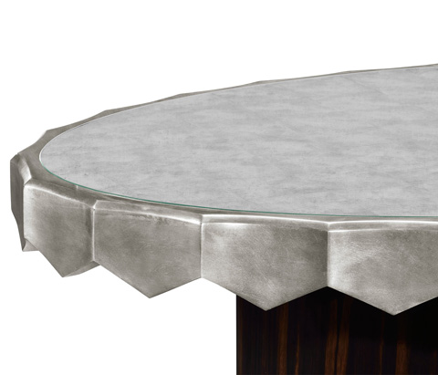 Jonathan Charles - Eglomise Oval Cocktail Table - 495384-SIL