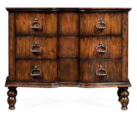 Jonathan Charles - Chest Of Drawers in Rustic Walnut - 495427-RWL