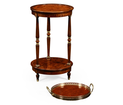 Jonathan Charles - Mahogancy and Brass Round Side Table - 499202
