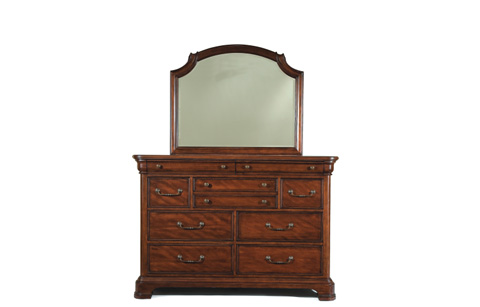 Legacy Classic Furniture - Evolution Bureau with Scroll Top Mirror - 9180-0300/1500