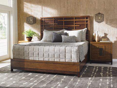 Lexington Home Brands - Shanghai Panel King Bed - 556-144C