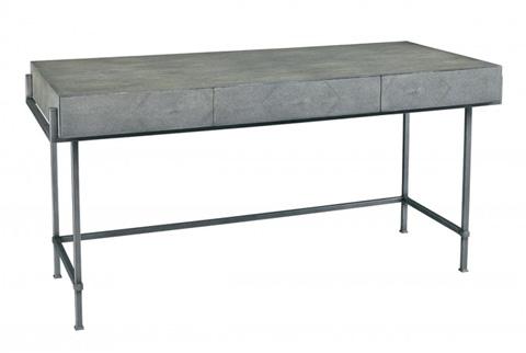 Lillian August Fine Furniture - Simone Shagreen Desk in Charcoal - LA96338-01