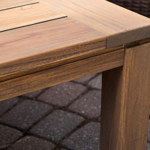 Lloyd Flanders - Antiqued Teak Square Dining Table - 286040
