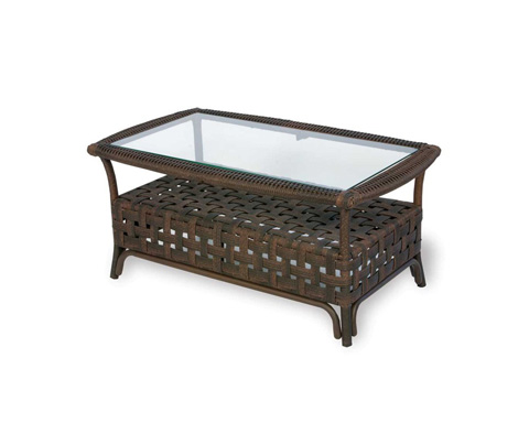 Lloyd Flanders - Haven  Cocktail Table with Set In Glass - 43044