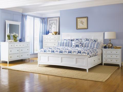 Magnussen Home - Kentwood White Panel Storage Bed - B1475 PSBED