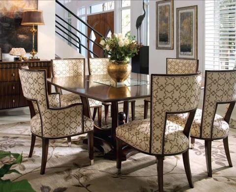 Marge Carson - Upholstered Arm Chair - TAN46