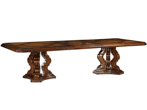 Marge Carson - Double Pedestal Dining Table - RVL21