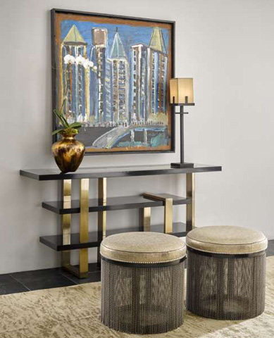 Marge Carson - Lake Shore Drive Console Table - LDR06-1