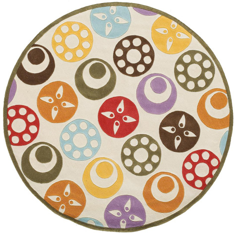 Momeni - Lil Mo Whimsy Rug in Ivory - LMJ-05 CANDY DOTS IVORY