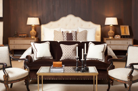 Mr. and Mrs. Howard by Sherrill Furniture - Fairholm Queen Upholstered Bed - MH10513