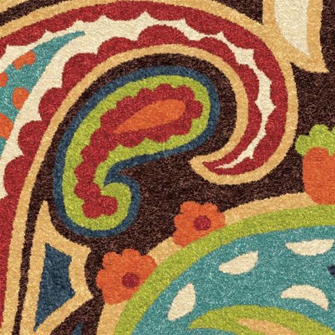 Orian Rugs - Paisley Multi 5'2