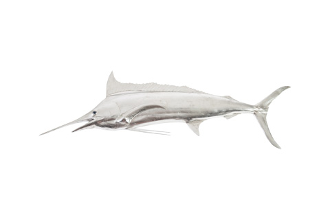Phillips Collection - Blue Marlin Fish in Silver Leaf - PH66671