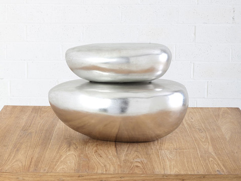 Phillips Collection - River Stone Table Top Sculpture - PH63667