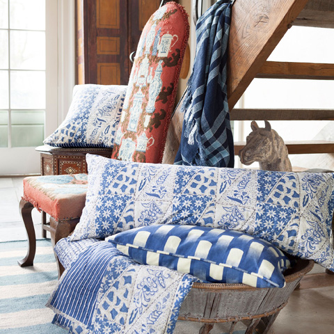 Pine Cone Hill, Inc. - Normandy Navy Throw - NBLTH