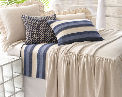 Pine Cone Hill, Inc. - Wilton Natural Bedspread in King - WNSKCGK