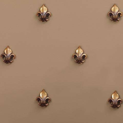 Port 68 - Set of Five Fleur De Lis Ornament in Gold - ACFM-052-01