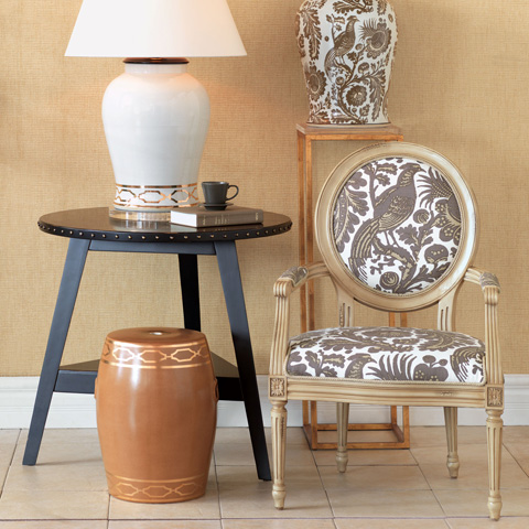 Port 68 - Pavillion Brown Garden Stool - ACFS-229-05