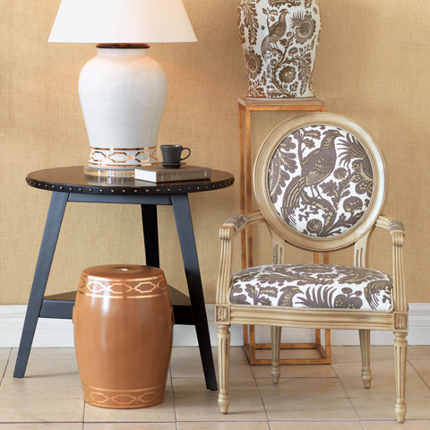 Port 68 - Avery Antiqued Ivory Arcadia Taupe Chair - AFAS-042-28