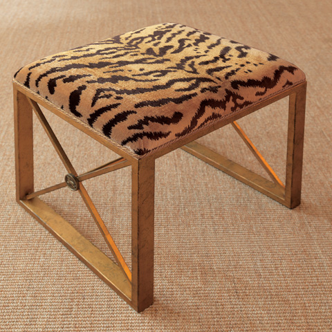 Port 68 - Medallion Gold Le Tigre Natural Single Bench - AFBS-222-13