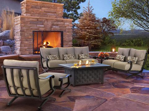 Castelle - Telluride High Back Cushioned Lounge Swivel Rocker - 2816T