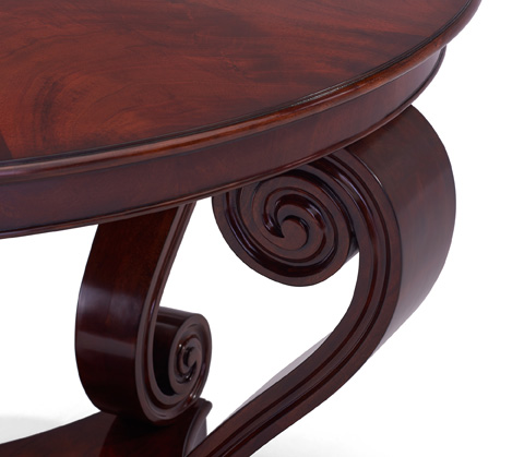 Ralph Lauren by EJ Victor - Mahogany One Fifth Scroll Hall Table - 4602-55