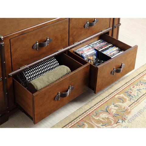 Riverside Furniture - Steamer Trunk TV Console - 38741
