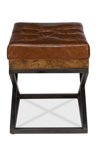 Sarreid Ltd. - Leather Cushion Bench - 26755