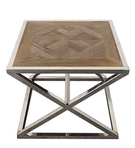 Sarreid Ltd. - Parquet Stainless End Table - 29228