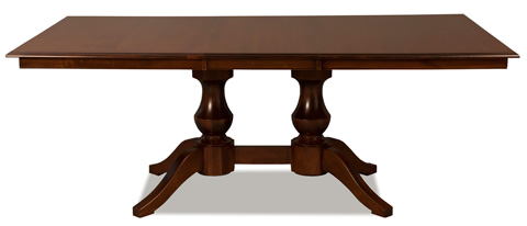 Saloom Furniture - Woodstock Double Pedestal Dining Table - MTWS 4260-1