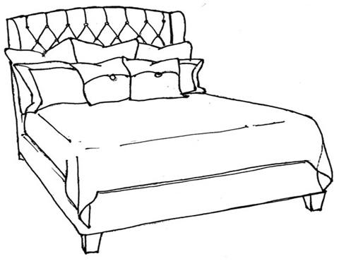 Stanford - Irving King Tufted Bed - S810-81BT