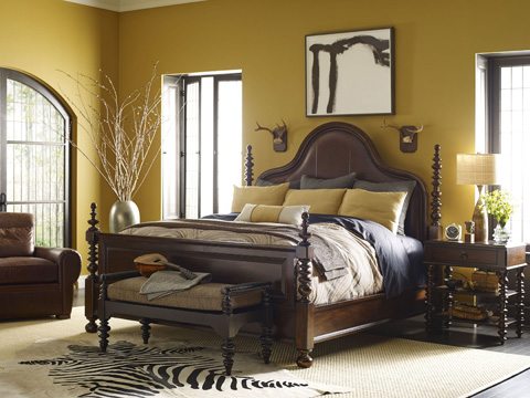 Thomasville Furniture - Upholstered Leather Panel Bed - 84411-436