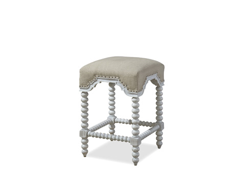Paula Deen Home - Paula Deen Dogwood Kitchen Stool in Blossom Finish - 597602-RTA