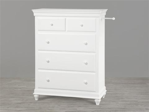 Universal - Smart Stuff - Summer White Five Drawer Chest - 131A010