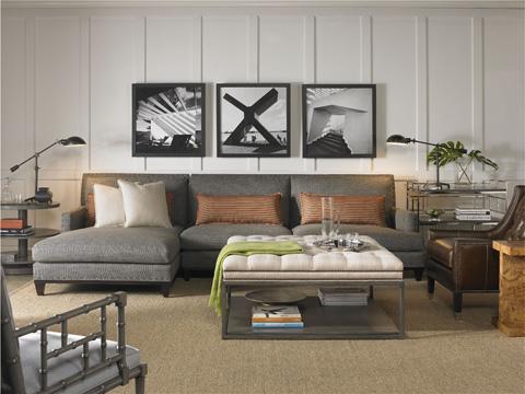 Vanguard Furniture - Wayland Square Metal Ottoman - W44SM