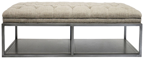 Vanguard Furniture - Wayland Thin Rectangular Metal Ottoman - W58TM