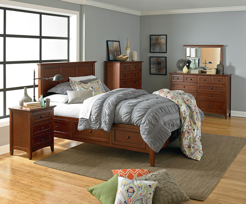 Whittier Wood Furniture - Ten Drawer McKenzie Dresser - 1128GAC