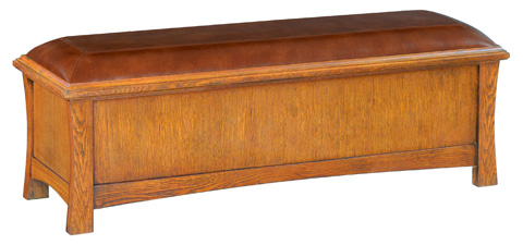 Whittier Wood Furniture - Two Drawer Prairie City Bench - 1212LSO