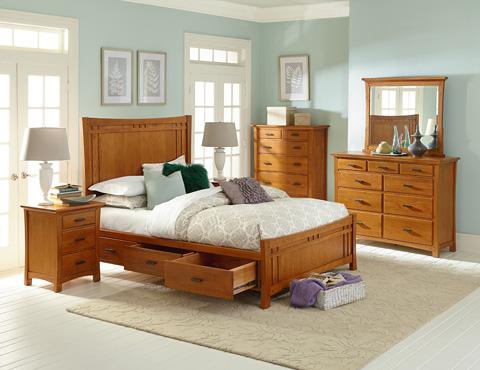 Whittier Wood Furniture - Nine Drawer Prairie City Dresser - 1220LSO