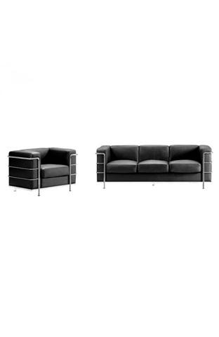 Zuo Modern Contemporary, Inc. - Fortress Sofa in Black - 900230