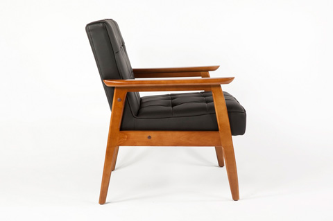 Control Brand - Adrian Arm Chair Black - SF885001BLK