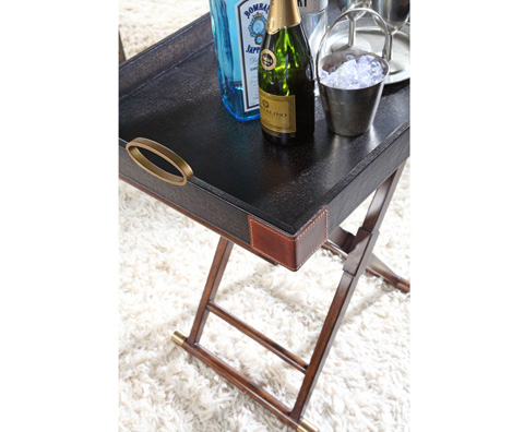 Curate by Artistica Metal Design - Black Canvas Martial Hi-Lo Table - C407-310
