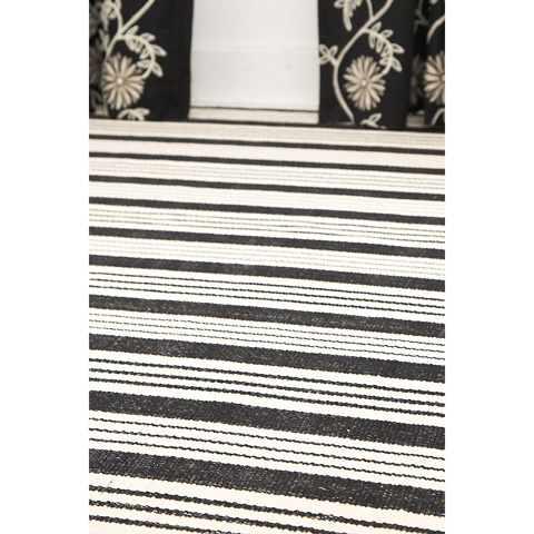 Dash & Albert Rug Company - Birmingham Black Woven Cotton Rug - RDA166-912